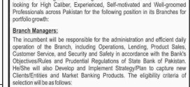 Bank Of Punjab BOP Jobs 2015 Branch Manager July Advertisement Apply Online