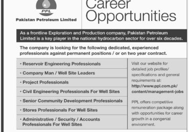Pakistan Petroleum Limited PPL Jobs 2015 Latest July Advertisement