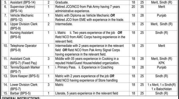 President Secretariat Aiwan-e-Sadr Islamabad Jobs July 2015 Advertisement NTS Form