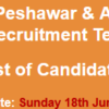 WAPDA Hospital Peshawar Jobs NTS Test Result 2017 18th June Check Online