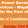 WAPDA Hospital Quetta Jobs NTS Test Result 2017 23rd April