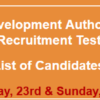 Galiyat Development Authority GDA Jobs NTS Test Result 2016 23rd, 24th January