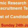 Punjab Economic Research Institute PERI Jobs NTS Test Result 2016 24th January