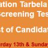 WAPDA Tarbela Dam Project Jobs NTS Test Result 2017 13th, 14th May