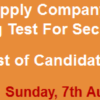 LESCO Lahore Security Guard Jobs NTS Test Result 2016 7th August