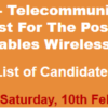 Lahore Police Constable, Lady Constable Wireless Operator NTS Test Result 2018 10th February