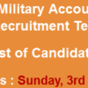 Office of the Military Accountant General Jobs NTS Test Result 2016 3rd April