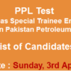 PPL Special Trainee Engineer, Diploma Holders NTS Test Result 2016 3rd April