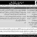 Pakistan Army ISI Intelligence Agency Jobs 2016 ISPR Clerk, Stenographer Form
