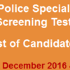 Special Branch Punjab Police Intelligence Officer, Operator NTS Test Result 2016-2017