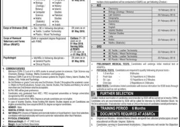 www.joinpakarmy.gov.pk SSC Captain Jobs 2018 Short Service Commission Apply Procedure PMA ISSB