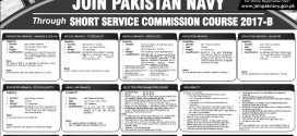 Pakistan Navy SSG Jobs Short Service Commission 2017-B Online Registration Form