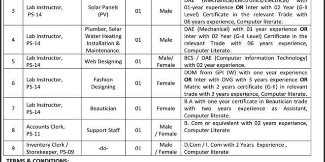 Punjab Technical Education & Vocational Training Authority Jobs 2016 TEVTA Ads