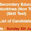 Elementary and Secondary Education KPK Junior Clerk NTS Test Result 2016 5th June