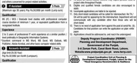 Punjab Planning And Development Department Jobs 2017 Advertisement