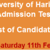 University Of Haripur Admission NTS GAT Test Result 2017 11th February