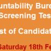 NAB Rawalpindi Jobs NTS Test Result 2017 18th February