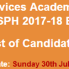 Health Services Academy NTS Test Result for MSPH Course 2017 Check Online