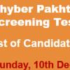 KPK Food Directorate Peshawar Jobs NTS Test Result 2017 10th December