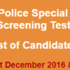 Punjab Police Special Branch Jobs NTS Test Result 2016-2017 31st December, 1st January