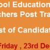 Punjab School Education Department Head Teacher NTS Test Result 2016 23rd December