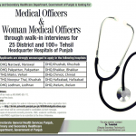 Primary & Secondary Health Department Punjab Jobs 2017 Medical Officer