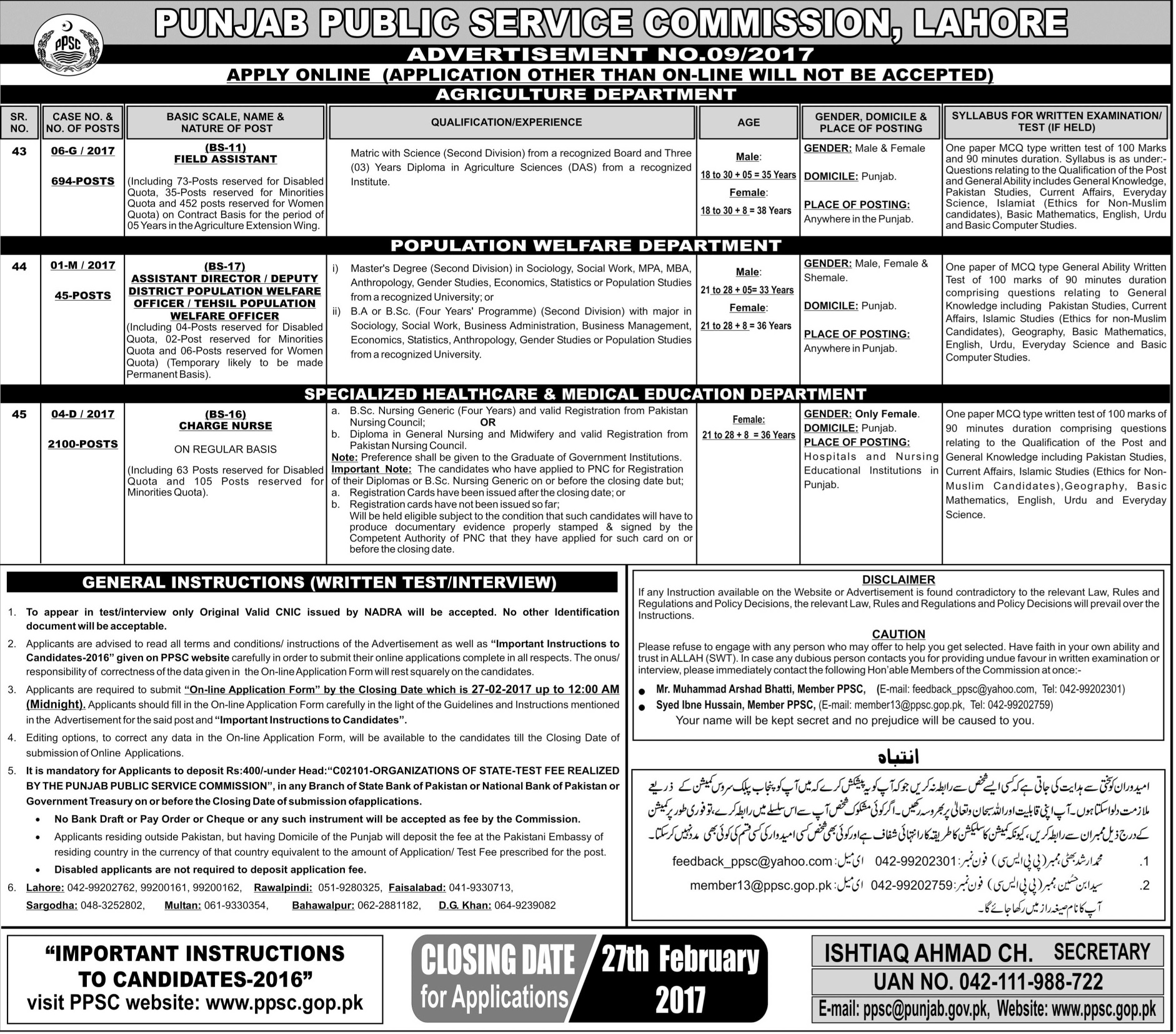 Charge nurses jobs 2018 for female government vacancies form apply ppsc charge nurses jobs 2018 for female government vacancies form apply online falaconquin