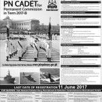 Join Pakistan Navy Permanent Commission 2017 PN Cadet Online Registration