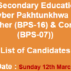KPK IT Teachers, Computer Lab Incharge Jobs NTS Test Result 2017 12th March