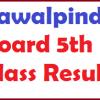 Rawalpindi Board 5th Class Result 2017 biserwp.edu.pk Online Result