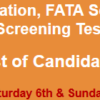 FATA Secretariat Peshawar Jobs NTS Test Result 2017 6th, 7th May Answer Keys