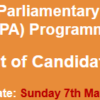 Young Parliamentary Associates YPA Programme NTS Test Result 2017 7th May