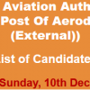 CAA IJP Supply Assistant, Aerodrome Fire Fighter NTS Test Result 2017 10th December