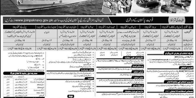 Pakistan Navy Jobs 2017 Online Registration As Sailors 2017 Batch C