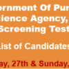 Punjab Forensic Science Agency Jobs NTS Test Result 2018 27th, 28th January
