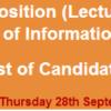COMSATS Lecturer Jobs NTS Test Result 2017 28th September