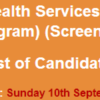 Directorate General Health Services KPK Jobs NTS Test Result 2017 10th September