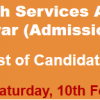 Provincial Health Services Academy KPK Nursing Admission NTS Test Result 2018 10th February