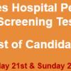 Services Hospital Peshawar Jobs NTS Test Result 2017 21st, 22nd October