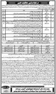 Elemetary and Secondary Education Department Jobs 2017 Malakand, SWAT, Bannu Application Form 2