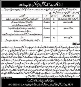 Punjab Special Education Department Lahore Jobs 2017 Vocational Teacher Application Form Interview date