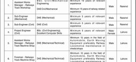 Railways Construction Railcop Pakistan Jobs 2017 Sub Engineer, Foreman, Project Engineer Civil Application Form