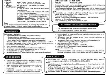 Join Pakistan Navy As Religious Motivation Officer 2018 SSC Registration Form Online Dates