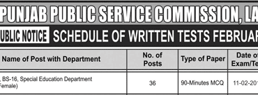 PPSC Educator Special Education Department Test Result 2018 Check Online