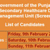 Project Management Unit Punjab NTS Test Result 2018 9th, 10th, 11th February