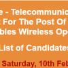 Punjab Police Wireless Operator NTS Test Result 2018 10th February Answer Keys